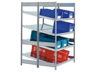 Supply Shelving extension bay, 2 shelf levels deep