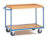 Fetra Table Top Cart 1000x600mm, top shelf 50mm rim