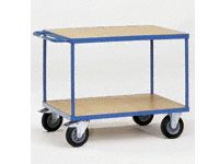 Fetra Table top Cart 1000x600mm with 2 timber shelves