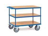 Fetra Table top Cart 1000x700mm with 3 timber shelves