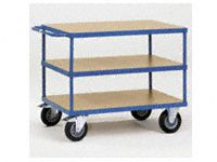 Fetra Table top Cart 1200x800mm with 3 timber shelves