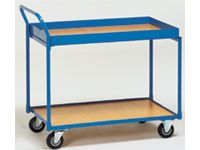 Fetra Table Top Cart 850x500, angled handle, 2 shelves