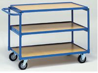 Fetra Table Top Cart 850x500, horizontal handle, 3 shelf