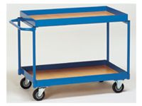 Fetra Table Top Cart 850x500mm, both shelves 50mm rim