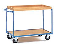 Fetra Table Top Cart 850x500mm, top shelf 50mm rim