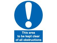 This Area To Be Kept Clear Signs - 400 x 300mm