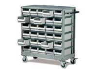 Topdrawer trolley c/w 30 drawers 300kg capacity