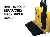 Tough polyethylene gas cylinder stand, capacity 6