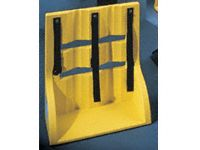 Tough polyethylene gas cylinder wall stand