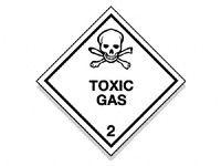 Toxic Gas Hazard Warning Signs