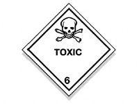 Toxic Hazard Diamond Warning Signs