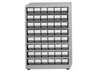 Treston High density storage cabinet, 48 grey bins