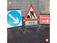 Folding  750mm Traffic Sign  Keep Left/Right