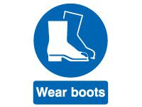 Wear Boots Safety Signs - 400 x 300mm