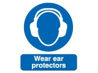Wear Ear Protectors Safety Signs - 400 x 300mm