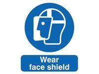 Wear Face Shield Mandatory Signs - 400 x 300mm