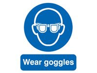 Wear Goggles Safety Signs - 400 x 300mm
