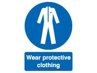 Wear Protective Clothing Safety Signs - 210 x 148mm