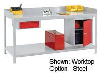 Welded Steel Workbenches With Plywood Top - 750kg Capacity