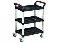 Standard Utility Plastic 3 Shelf Trolley