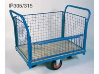 Wire mesh Box Truck, angle frame, half hinged side