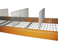 Wire Mesh Pallet Racking Divider - 1100D x 300H
