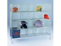 Wire Mesh Storage Lockers - 20 Compartment With Doors