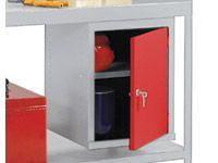 Workbench accessory, cupboard unit