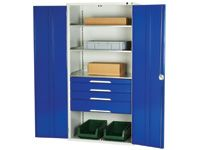 Workshop Cupboard with 4 drawers + 3 shelves
